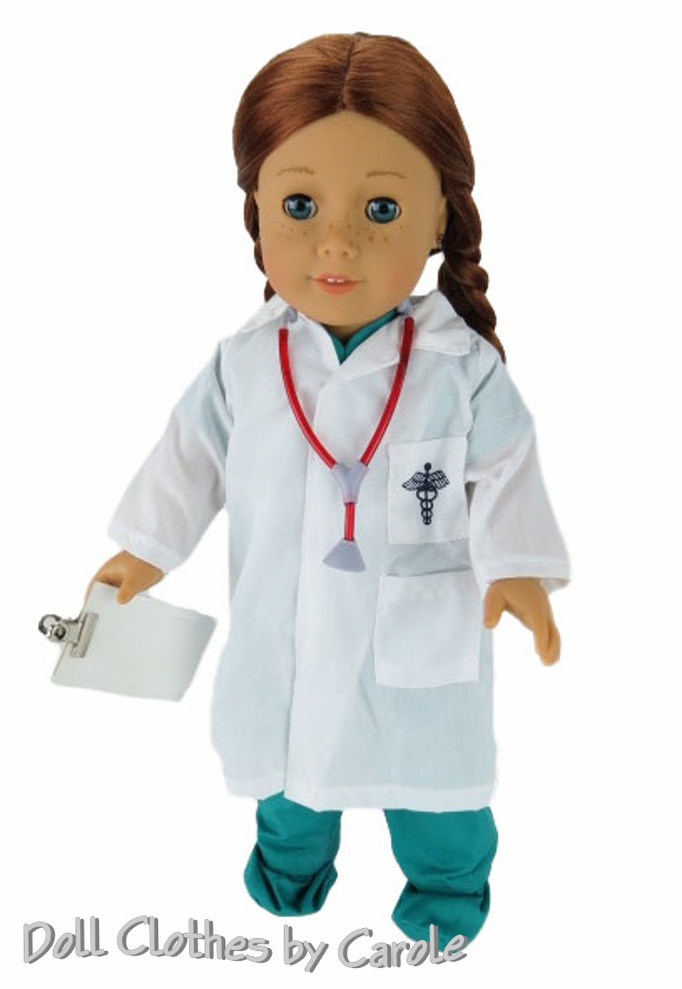 Doctor Scrubs Set - Green  sc 1 st  Doll Clothes by Carole & Doctor Scrubs