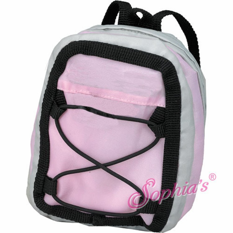 Pink Amp Gray Backpack