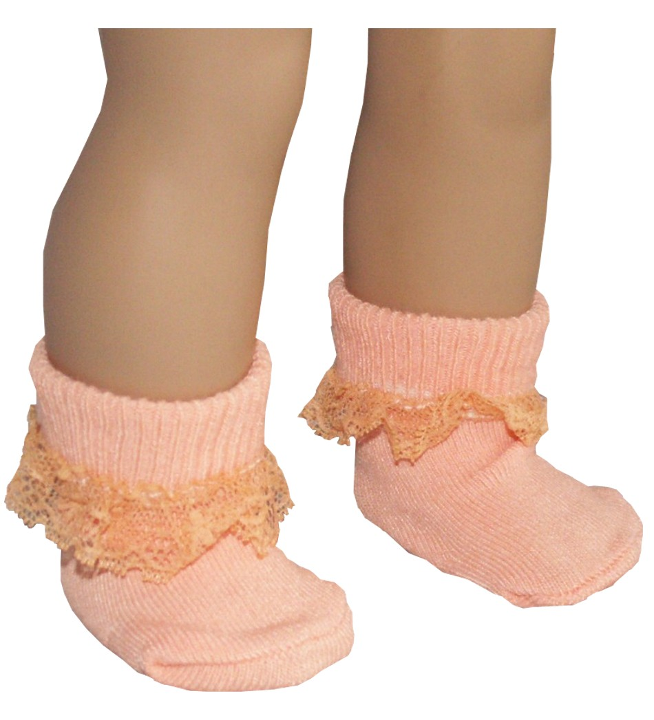 Peach Lace Anklet
