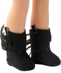 wellie-black-fringe-boots