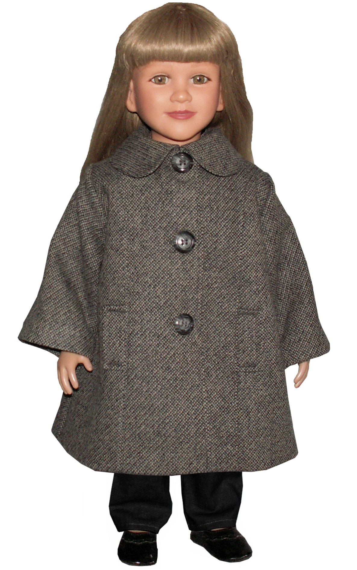Gray Tweed Wool Coat
