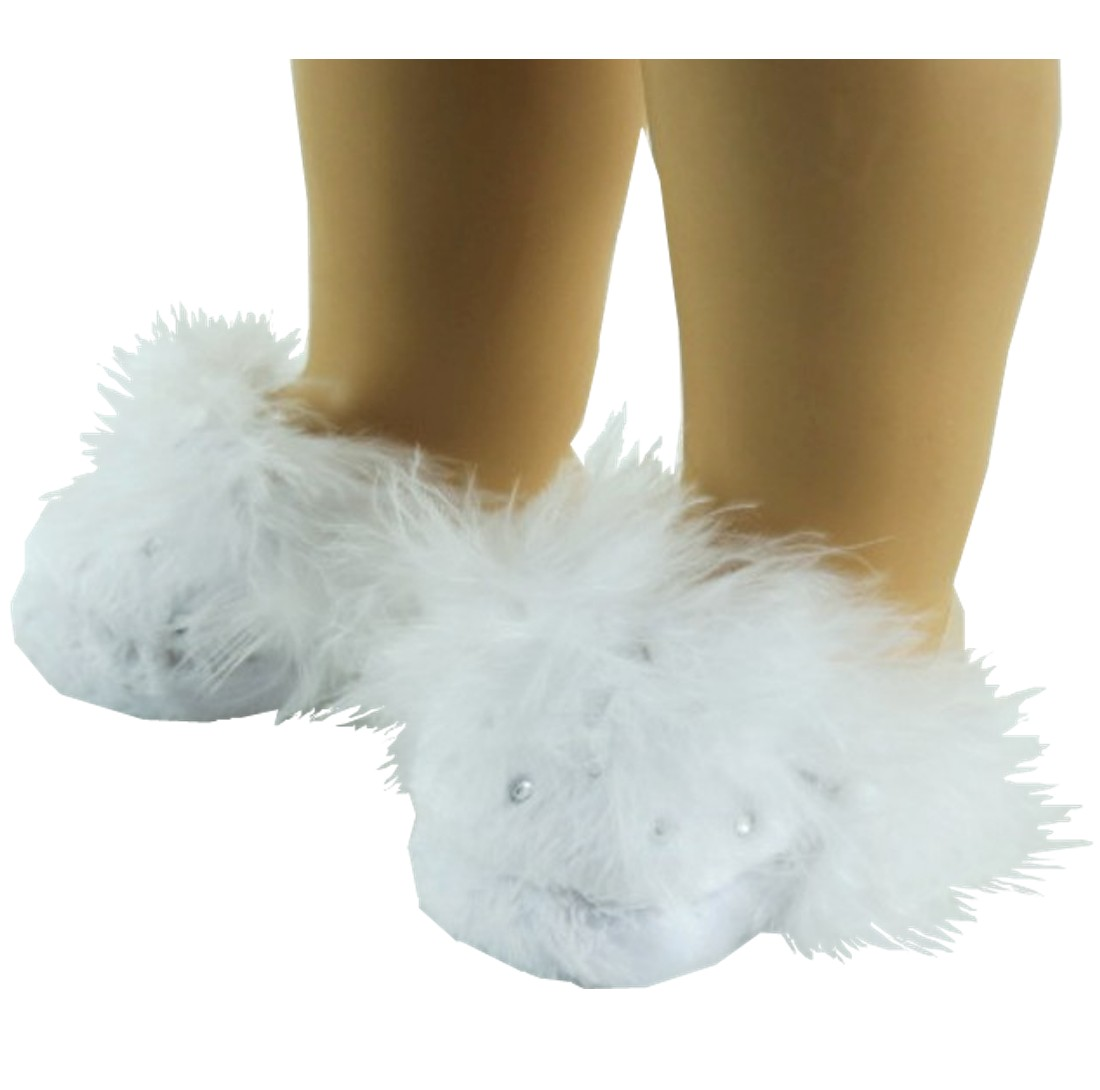 White Rhinestone Slippers